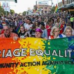 Image of a rally for legalizing same-sex marriage in Australia