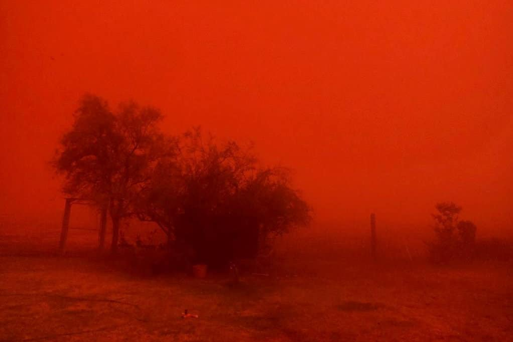 Dust storm in Australia 2018-2019