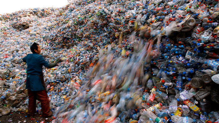 Mountains of plastic in China